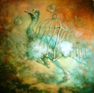 Freedom Runner 2020 48x48 Original Painting -  Voytek