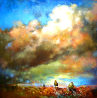 Big Sky 2020 48x48 Super Huge Original Painting -  Voytek