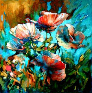 Marta's Garden - Blue Morning 2019 30x30 Original Painting by  Voytek