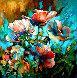 Marta's Garden - Blue Morning 2019 30x30 Original Painting by  Voytek - 0