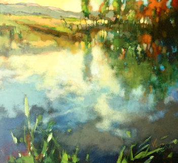 Reflections 2007 34x38 Original Painting -  Voytek