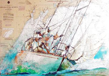 Sailor's Diary Race 2021 40x51 Nautical Chart Original Painting -  Voytek