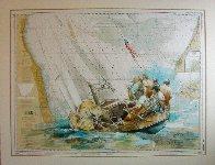 Sailor's Diary, Lake Michigan 2021 40x51 Original Painting by  Voytek - 1