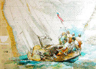 Sailor's Diary, Lake Michigan 2021 40x51 Original Painting by  Voytek - 0