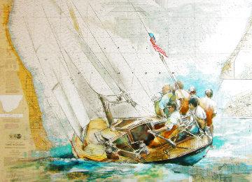 Sailor's Diary, Lake Michigan 2021 40x51 Nautical Chart Original Painting -  Voytek