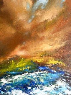 When the Ocean Meets the Sky 48x48 Huge Original Painting -  Voytek