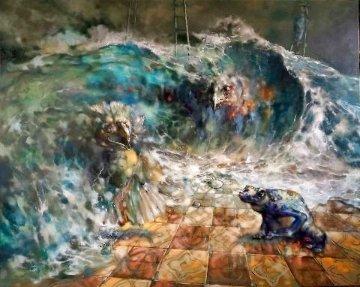 Collateral 2021 48x60  Huge Original Painting -  Voytek