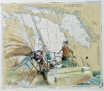 Ahead 2012 44x38 Lake Michigan Original Painting by  Voytek