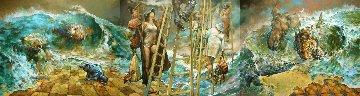 Forgotten By Noah Triptych 2016 48x60  Original Painting by  Voytek