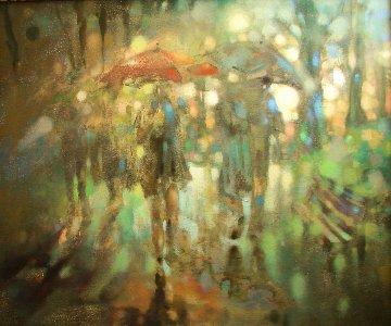 In The Park 2016 30x36 Original Painting by  Voytek