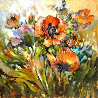 Marta's Garden-on Wind Embellished Limited Edition Print by  Voytek