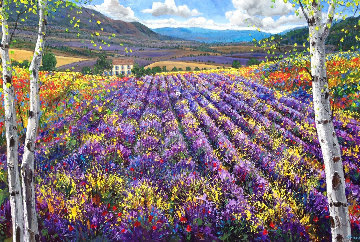 Magic of Provence 2011 30x60 Original Painting - Jennifer Vranes