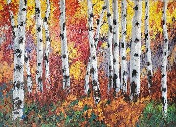 Autumn Jewel IV 48x60 Original Painting - Jennifer Vranes