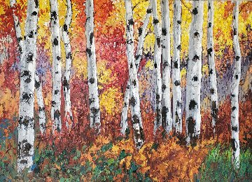 Autumn Jewel IV 48x60 Super Huge Original Painting - Jennifer Vranes
