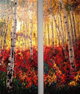 Autumn Promise Diptych AP 2013 60x50 Super Huge Limited Edition Print - Jennifer Vranes