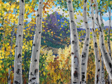 Mountain View 2010 30x40 Original Painting - Jennifer Vranes