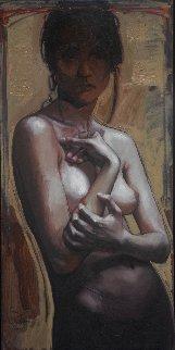 Expressive Hands 39x19 Original Painting - Nico Vrielink