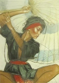 Chinese Umbrella 1990 Limited Edition Print by Nico Vrielink