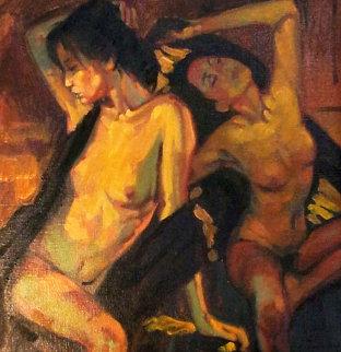 Jaene 1997 13x13 Original Painting - Nico Vrielink