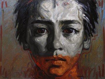 Jerome, My Son 2018 59x78 Original Painting - Nico Vrielink