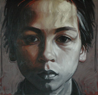 Jerome, My Son 47x47 Super Huge Original Painting - Nico Vrielink