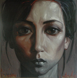 Jeane, As She Developed 47x47 Original Painting by Nico Vrielink