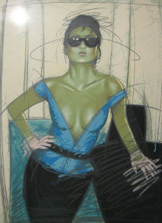 Jeane 37x26 Limited Edition Print by Nico Vrielink