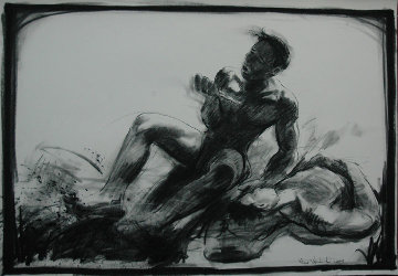 Barong Dance (Bali) 39x27 Works on Paper (not prints) by Nico Vrielink