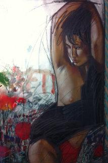 Nippon Girl 1990 49x37 Original Painting - Nico Vrielink