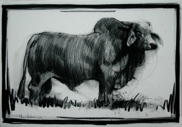 Bull 2008  27x39 Works on Paper (not prints) by Nico Vrielink