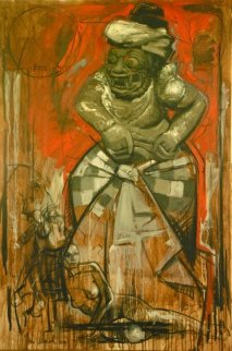Introduction Into Bali/Indonesia 2009 59x39 Original Painting - Nico Vrielink
