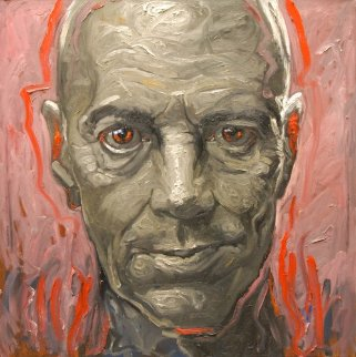 Portrait of a Friend 2011 47x47 Original Painting - Nico Vrielink