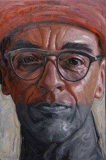 Francesco Pasta Capone 2010 59x39 Super Huge Original Painting - Nico Vrielink