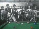 Last Game 2014 59x78 Original Painting - Nico Vrielink