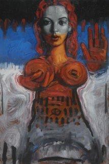 Acceptance 2011 35x23 Original Painting - Nico Vrielink
