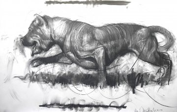 Dog Drawing 2014 39x59 Drawing by Nico Vrielink