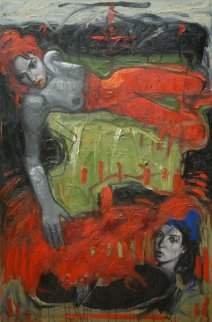 Underneath 2011 50x39 Super Huge Original Painting - Nico Vrielink