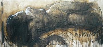Nude 2015 27x59 Original Painting - Nico Vrielink