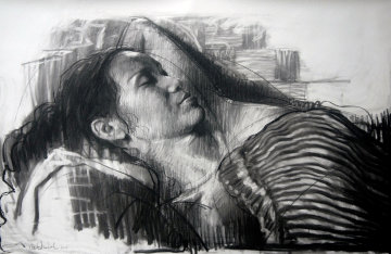 My Wife, My Love Drawing 2015 39x59 Drawing by Nico Vrielink