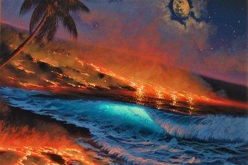 Long Journey To the Sea 2000 26x30 Original Painting - Walfrido Garcia