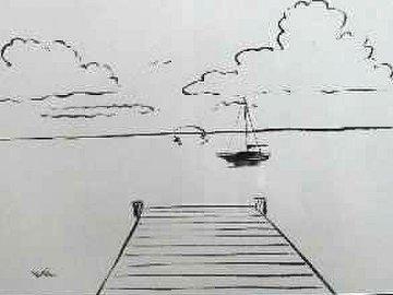 Dockside Dreaming 2009 20x26 Original Painting by Walfrido Garcia