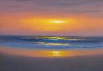 Sweet Sun of Summer 2009 12x16 Original Painting - Walfrido Garcia