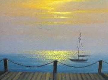 Sea of Dreams 2009 16x20 Original Painting by Walfrido Garcia