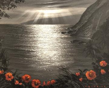 Recalling the View 24x30 Original Painting - Walfrido Garcia