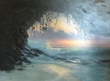 Mermaids Cave 39x51 Huge Original Painting - Walfrido Garcia