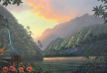 Promise And Hope 2000 32x44  Huge Original Painting - Walfrido Garcia