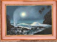 Tide Pools And Blowholes 2000 32x44 Super Huge Original Painting by Walfrido Garcia - 1