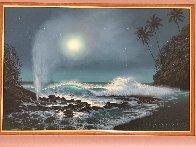 Tide Pools And Blowholes 2000 32x44 Super Huge Original Painting by Walfrido Garcia - 2