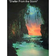 Shelter From the Storm 1996 Huge 40x34 Limited Edition Print by Walfrido Garcia - 2
