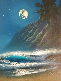 Island Night 32x28 Original Painting - Walfrido Garcia